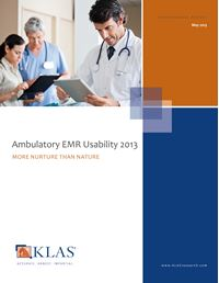 Ambulatory EMR Usability 2013