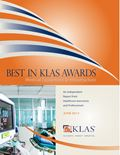2013 Best in KLAS Awards - Medical Equipment and Infrastructure