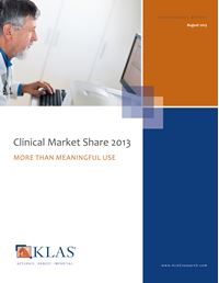Clinical Market Share 2013