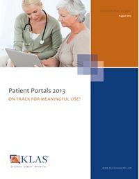 Patient Portals 2013