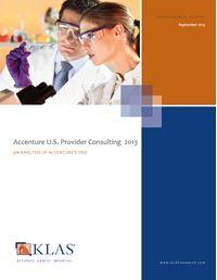 Accenture U.S. Provider Consulting 2013