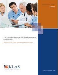 2013 Ambulatory EMR Performance (1-10 Physicians)