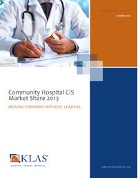 Community Hospital CIS Market Share 2013