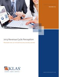 2013 Revenue Cycle Management Perception