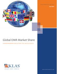 Global EMR Market Share 2014
