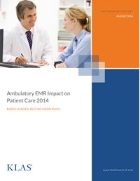 Ambulatory EMR Impact on Patient Care 2014