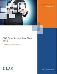 CDS Order Sets and Care Plans 2014