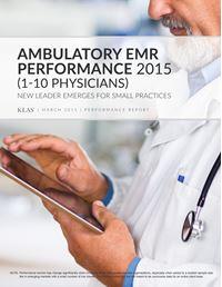 Ambulatory EMR Performance 2015 (1-10 Physicians)