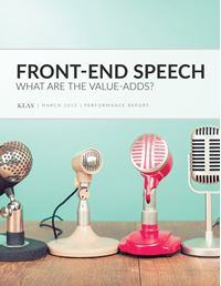 Front-End Speech