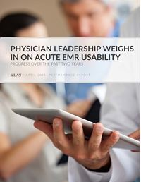 Physician Leadership Weighs in on Acute EMR Usability