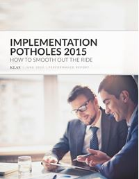 Implementation Potholes 2015