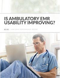 Is Ambulatory EMR Usability Improving?
