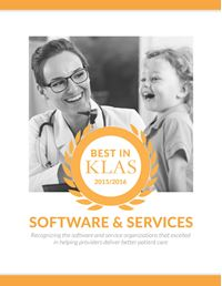 2015 / 2016 Best in KLAS Awards - Software and Professional Services