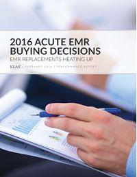 2016 Acute EMR Buying Decisions