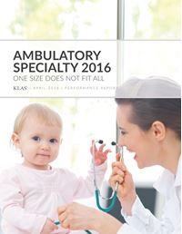 Ambulatory Specialty 2016