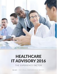 Healthcare IT Advisory Services 2016