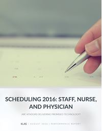 Scheduling 2016 - Staff, Nurse, and Physician