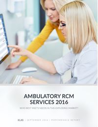 Ambulatory RCM Services 2016