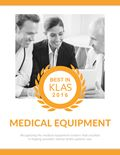 2016 Best in KLAS Awards: Medical Equipment