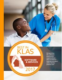 2017 Best in KLAS Awards - Software and Professional Services