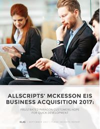Allscripts' McKesson EIS Business Acquisition 2017