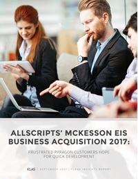 Allscripts' McKesson EIS Business Acquisition 2017