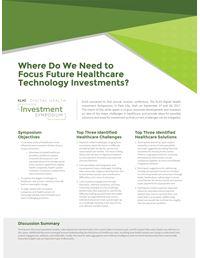 Digital Health Investment Symposium