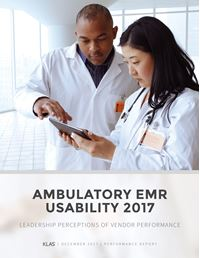 Ambulatory EMR Usability 2017
