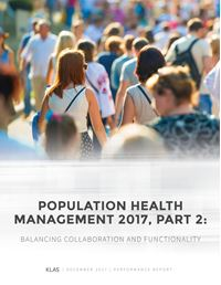 Population Health Management 2017, Part 2