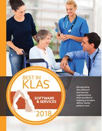 2018 Best in KLAS Awards - Software and Professional Services