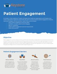 Patient Engagement Keystone Summit White Paper