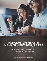 Population Health Management 2018, Part 1