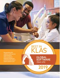 2019 Best in KLAS Awards - Global Software (Non-US)