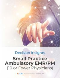 Small Practice Ambulatory EMR/PM (10 or Fewer Physicians) 2018