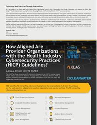 How Aligned Are Provider Organizations with the Health Industry Cybersecurity Practices (HICP) Guidelines?