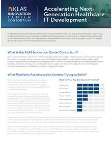 Innovation Center Consortium 2019 White Paper: Accelerating Next-Generation Healthcare IT Development