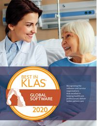 2020 Best in KLAS Awards - Global Software (Non-US)