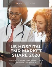 US Hospital EMR Market Share 2020