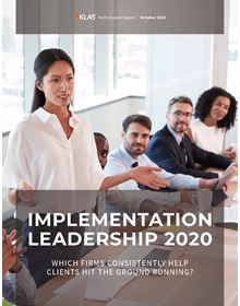 Implementation Leadership 2020: Which Firms Consistently Help Clients Hit the Ground Running?