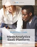 MedeAnalytics SaaS Platform: First Look 2020