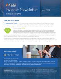 Investor Newsletter May 2021
