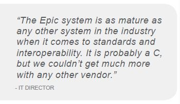 the epic system is as mature as any other in the industry