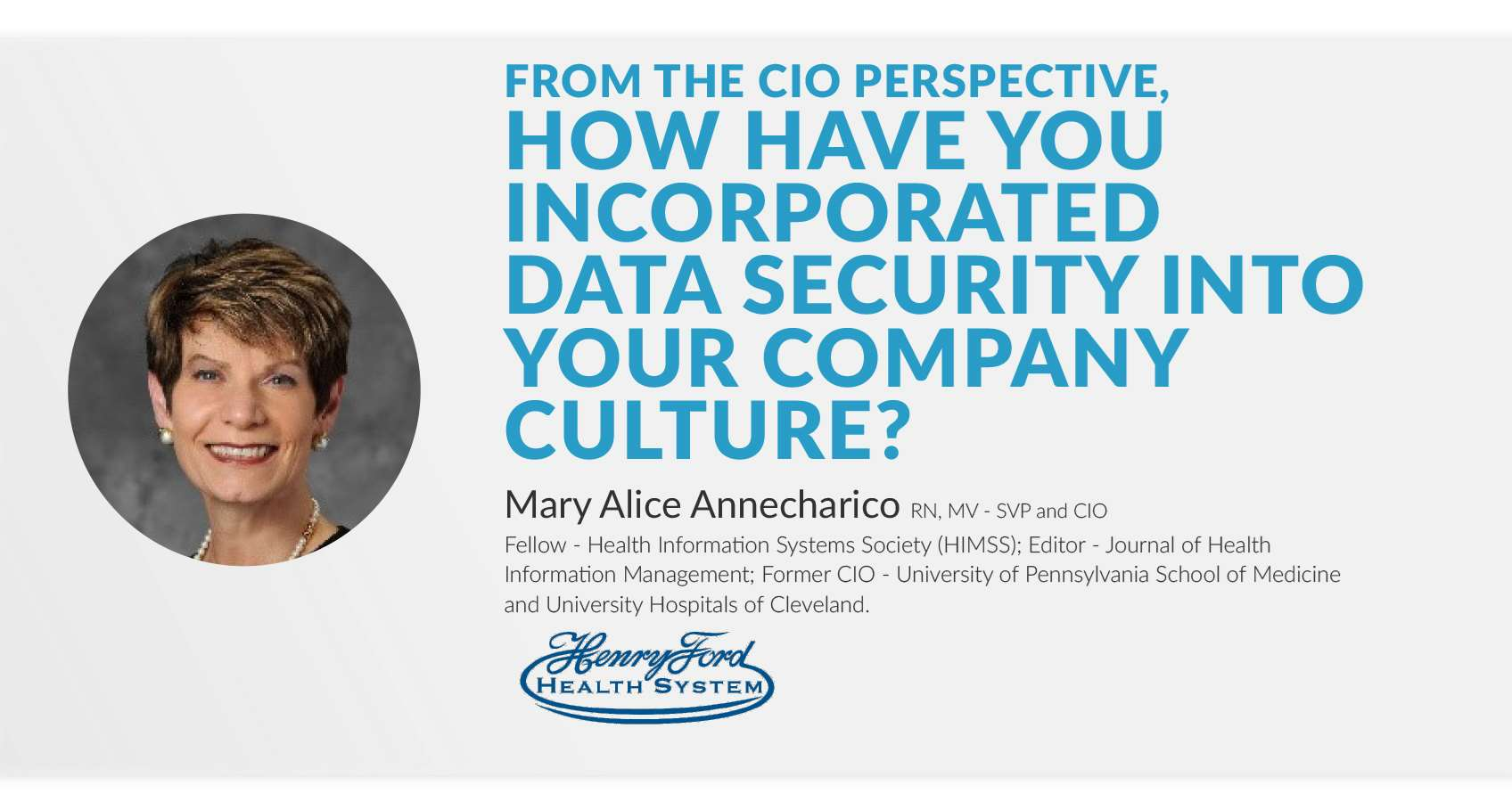 how have you incorporated data security into your company culture
