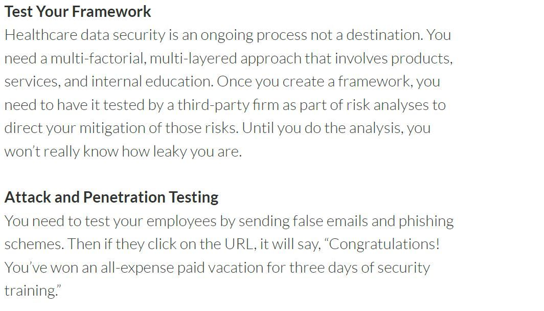 test your framework