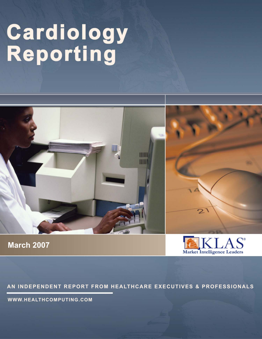 Cardiology Reporting 2007
