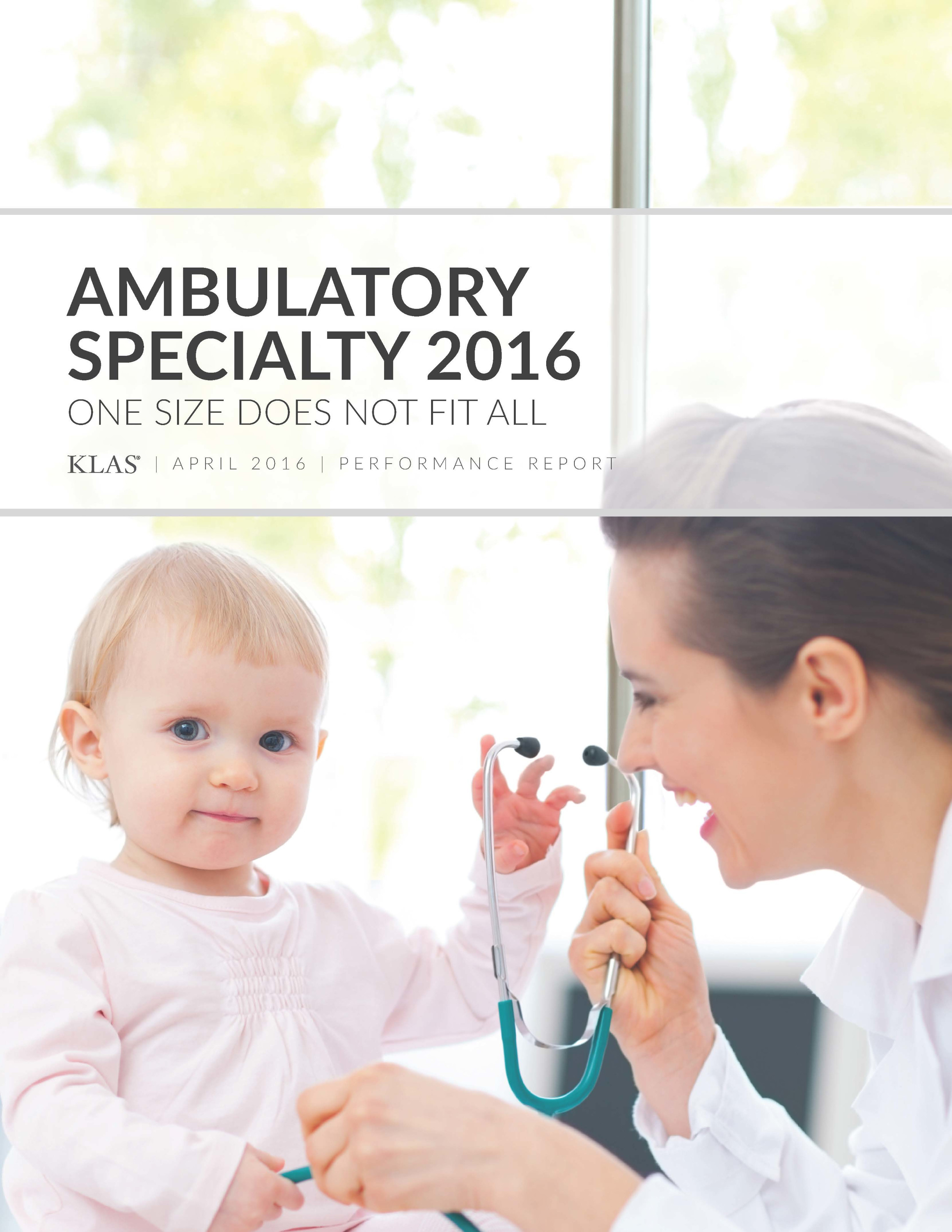 Ambulatory Specialty 2016