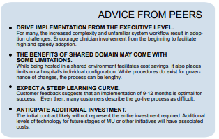 advice from peers