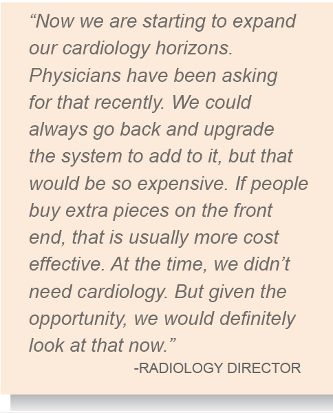 we are starting to expand our cardiology horizons