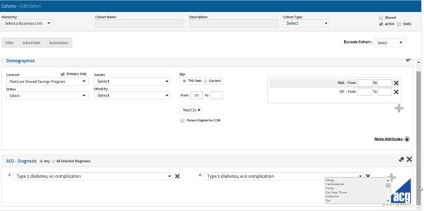 lightbeam phm resources cohorts screenshot