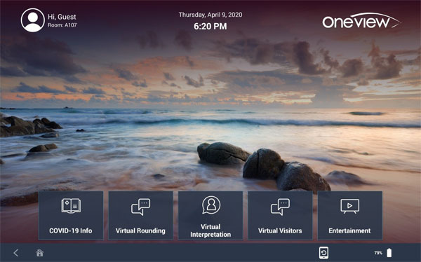 oneview cloud for covid 19 intro screen